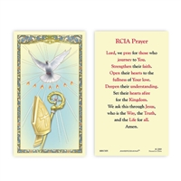 RCIA Prayer Holy Card 800-7305