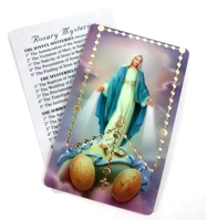 The Rosary Holy Card PVCGOLD62