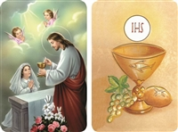 First Communion Girl 2D Holy Card Z23-A57