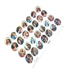 Small Size Oval Religious Sticker Sheet GRH505