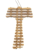 Olive Wood Tau Wall Cross With The Our Father Prayer