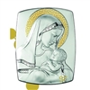 Mother and Child Sterling Silver on Wood Plaque C-890-MB