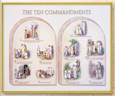 The Ten Commandments Wall Plaque 810-149