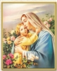 Mary Holding Jesus Picture Wall Plaque 810-227