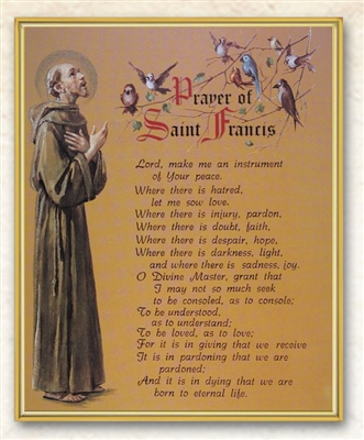 Prayer Of St. Francis Wall Plaque 810-311
