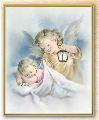 Guardian Angel With Lantern Plaque 810-352