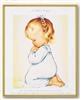 Praying Girl Plaque 810-395
