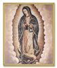 Our Lady Guadalupe Gold Frame Wall Plaque 810-895