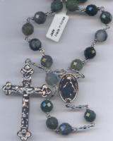 "24"" Genuine Jade Bead Rosary"