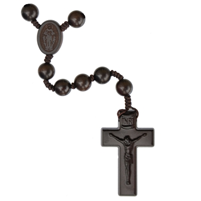 10mm Jujube Wood Rosary W2-26