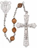 "20"" Chain-link Rosary with 6mm Jasper Beads, R1156"