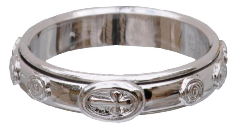 Sterling Silver Two Piece Rotating Rosary Ring, RRSS2