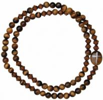 5 Decade Rosary Bracelet with 4mm Tiger Eye Beads, RBS80