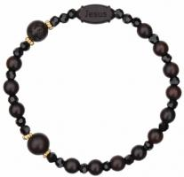 Rose Our Father Rosary Bracelet with 6mm Jujube Wood Beads - Petite Wrist Size, RBS2F