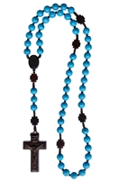 Turquoise 8mm Bead Jujube Wood Rosary R4158