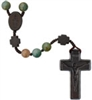 Multicolor Onyx 8mm Bead Jujube Wood Rosary R4858