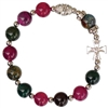Rosary Bracelet Gemstone Red/Green 10MM RBA52