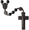 Black Onyx 8mm Bead Jujube Wood Rosary R4958