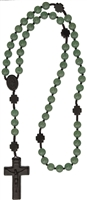 8mm Jade Bead Wood Rosary R4758