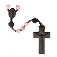 6mm Rhodonite/Jujube Wood Rosary R4356