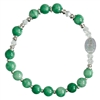 Rosary Bracelet Children Gemstone Greeb 6mm RCB44