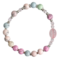 Rosary Bracelet Children Gemstone Rainbow 6mm RCB45