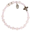 6mm Genuine Rose Quartz Bracelet RBS35