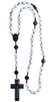 8mm Howlite/Jujube Wood Rosary R4558