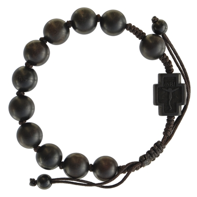 10mm Adjustable Jujube Wood Rosary Bracelet RBS3L