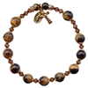 8mm Genuine Tiger Eye Rosary Bracelet RBS57