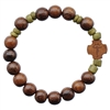 8mm Wood Children's Rosary Bracelet RCB2B