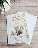with Love, Great Granddaughter As You Receive Your First Holy Communion Greeting Card 87546