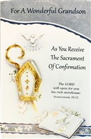 For A Wonderful Grandson Confirmation Greeting Card 87147