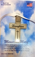 In Memory Daughter Pewter Cross FC2018