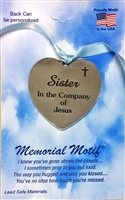 Sister In The Company of Jesus Memorial Pewter Medal FC3003