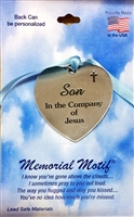 Son In The Company of Jesus Pewter Memorial Medal FC3004