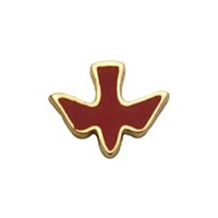 Confirmation Red Enamel Holy Spirit Lapel Pin BK-P7332-R