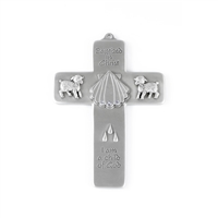 "5"" Fine Pewter Boys Baptismal Cross JC-3207-E"