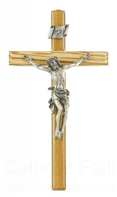Genuine Olive Wood Crucifix JC4108E