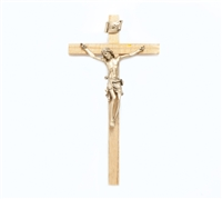 "10"" Oak Crucifix, 4.5"" Antique Gold Finish Corpus JC-7103-K"