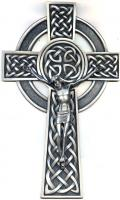 "8"" Fine Pewter Knotted Celtic Crucifix JC-9221-E"