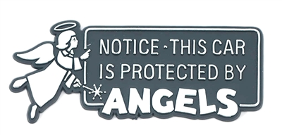 Protected by Angels Auto Emblem BK-P10177