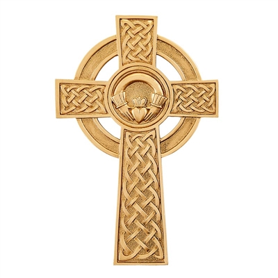 "8"" Pewter Celtic Clauddagh Cross JC-9032-K"