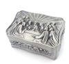 Silver Finish Last Supper Rosary Box BK-92