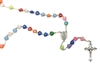 Multi-Colored Heart Shaped Rosary BKR-57