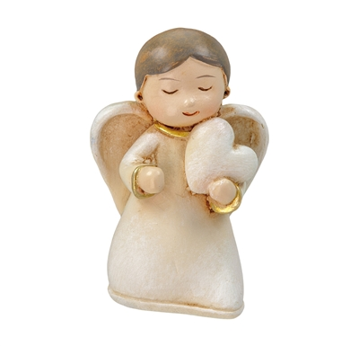 CHRISTMAS ANGEL HOLDING HEART 251014