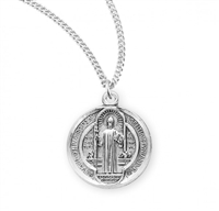 Saint Benedict Round Jubilee Sterling Silver Medal S167918
