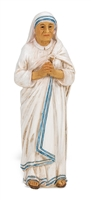 "Saint Teresa of Calcutta Cold Cast Resin 4"" Hand Painted Statue with Box 1735-575"