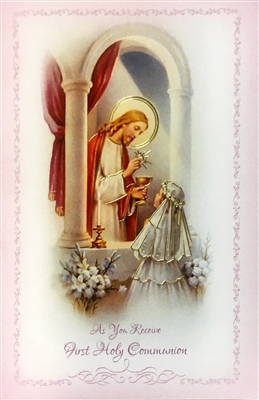 As You Receive First Holy Communion Greeting Card FC-9209
