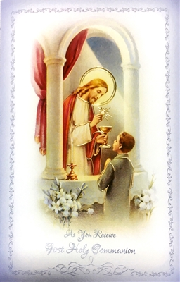 As You Receive First Holy Communion Greeting Card FC-9210